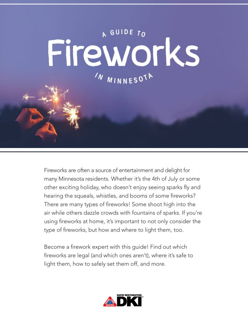 The first page of Rapid Restoration's Guide to Fireworks.