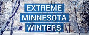 Infographic about some of the harshest winters in Minnesota