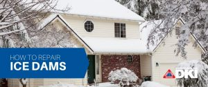 how to repair ice dams graphic