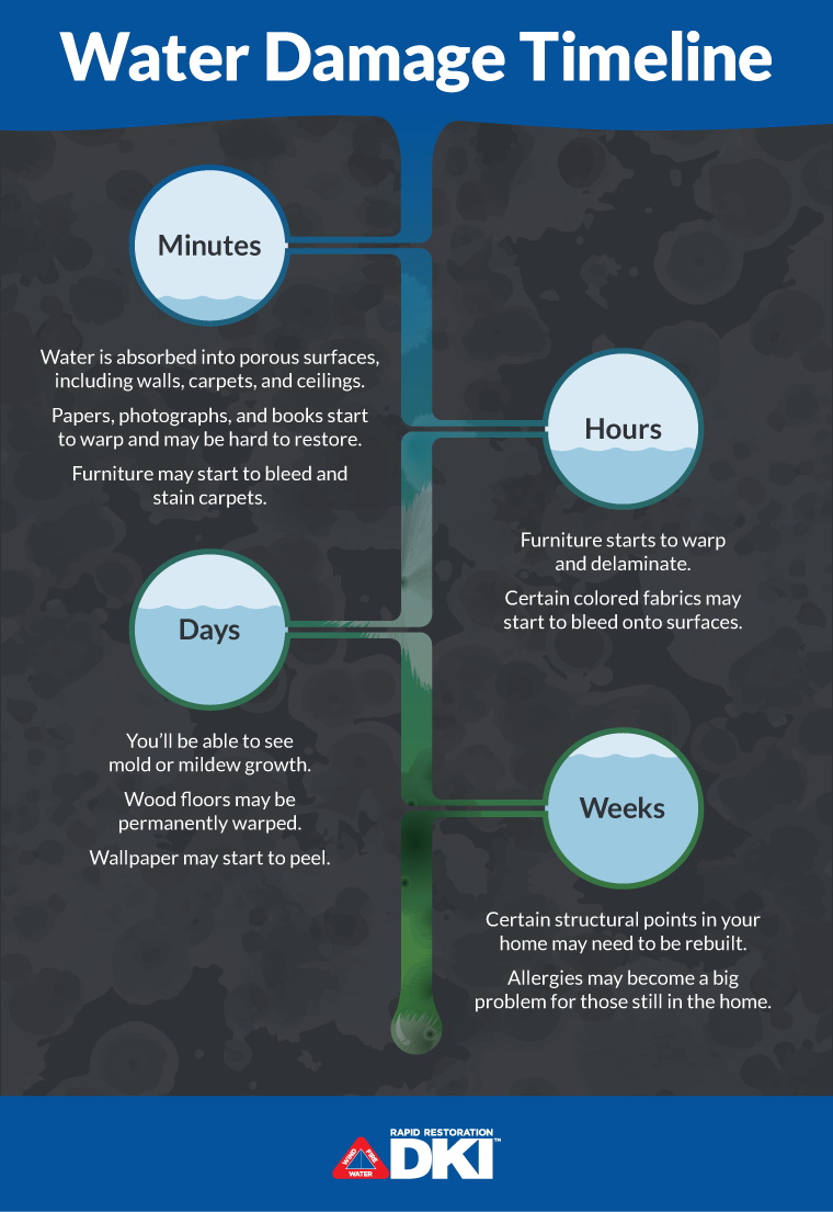 A timeline of how fast water can damage your home.