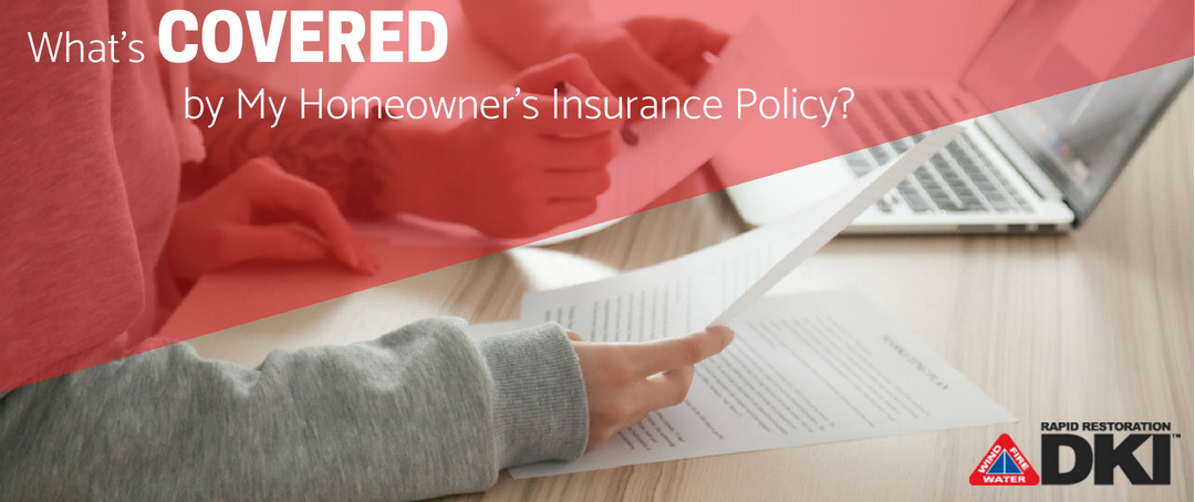 What's covered by my homeowner's insurance policy?