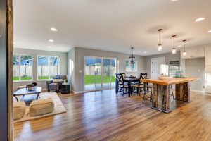 A beautiful home with light hardwood floors.