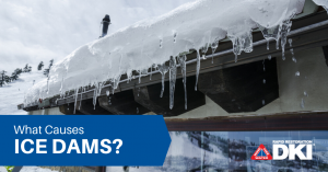 Header image with roof with icicles