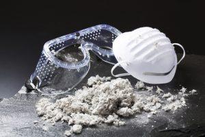 mask, googles, and asbestos
